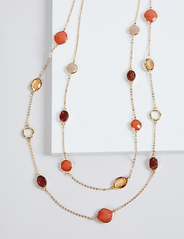 Faceted Beads Multi-Layer Necklace