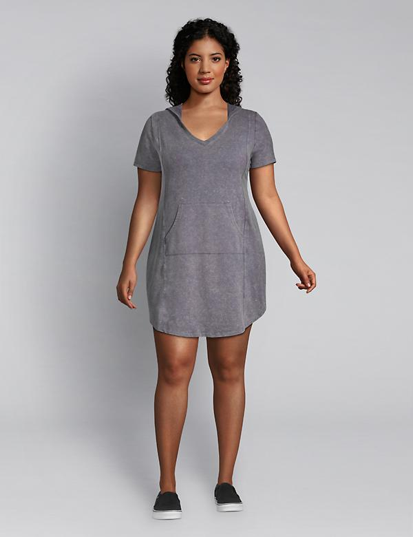 LIVI French Terry Hoodie Dress - Mineral Wash