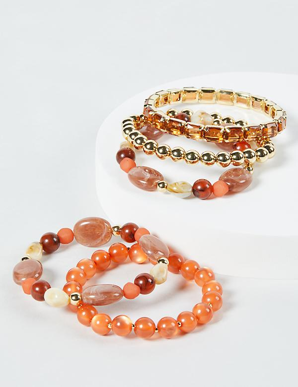 5-Row Beaded Stretch Bracelets
