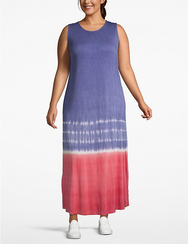 Tie-Dye Stripe Maxi Dress