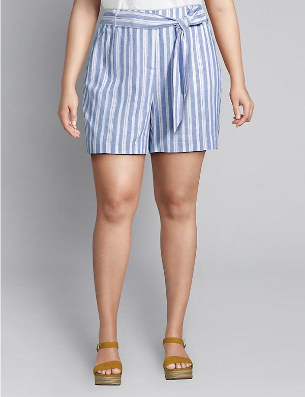 Tie-Waist Soft Short - Striped