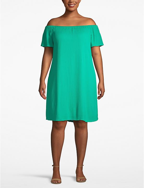 Convertible Neckline Swing Dress