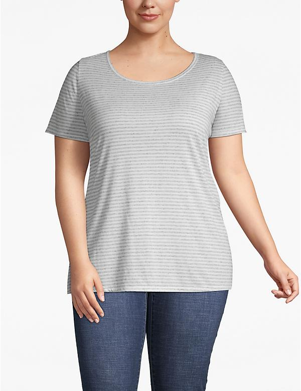 Striped Cutout-Back Tee