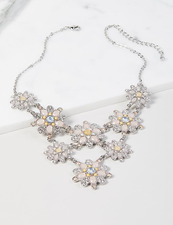 Faceted Bead Statement Necklace