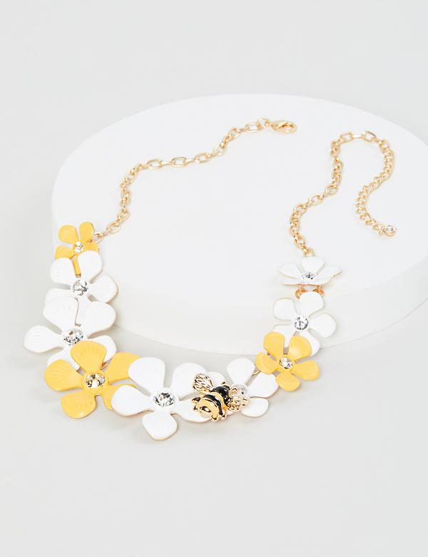 Flower & Bumblebee Necklace