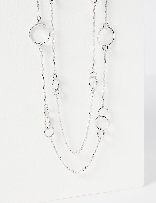 Layered Open-Circle Chain Necklace