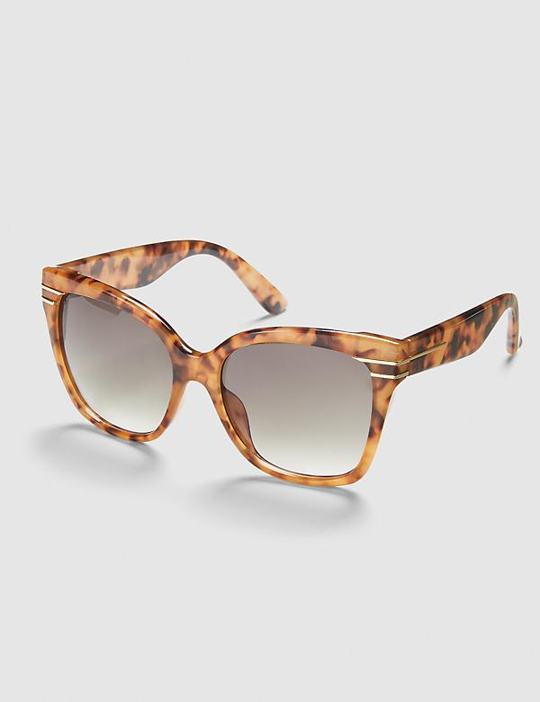 Animal Print Square Sunglasses
