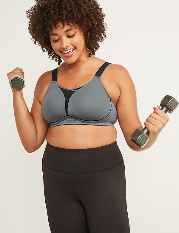 LIVI Active Medium-Impact Cooling No-Wire Sport Bra