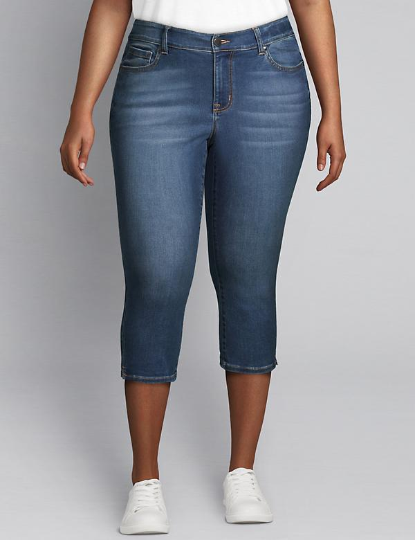 Signature Fit Pedal Jean - Medium Wash