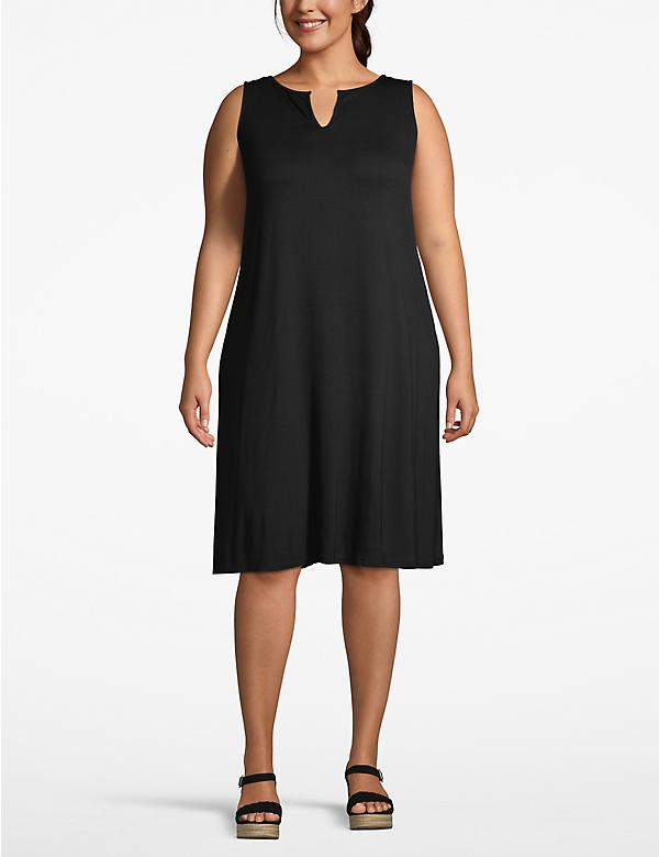 Notch-Neck Swing Dress