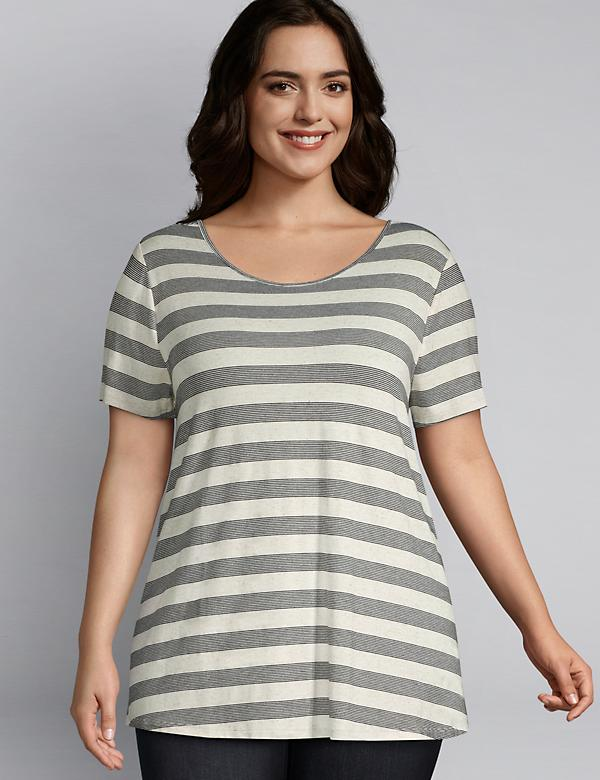 Striped Strappy Back Swing Tee