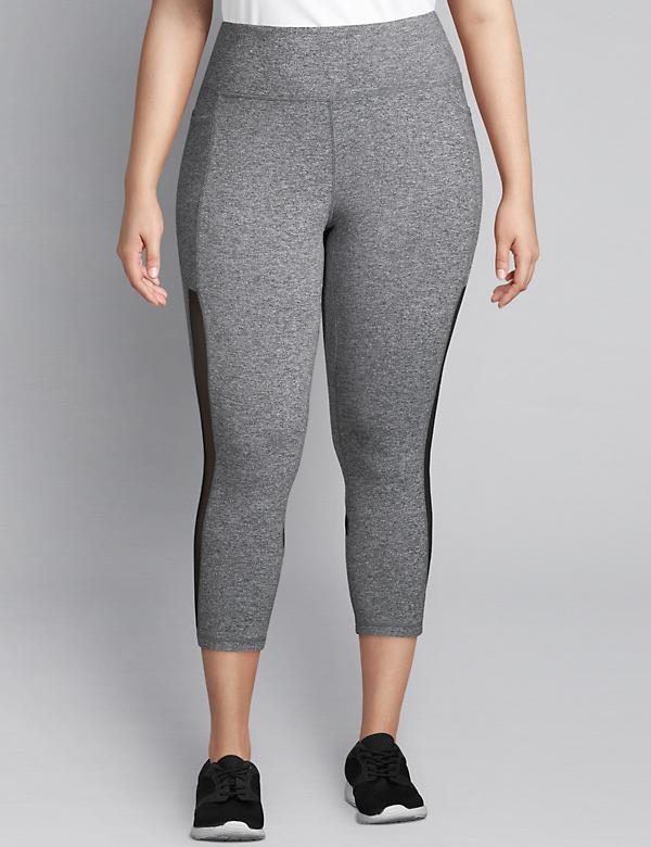 LIVI Capri Power Legging With Wicking - Mesh Inset
