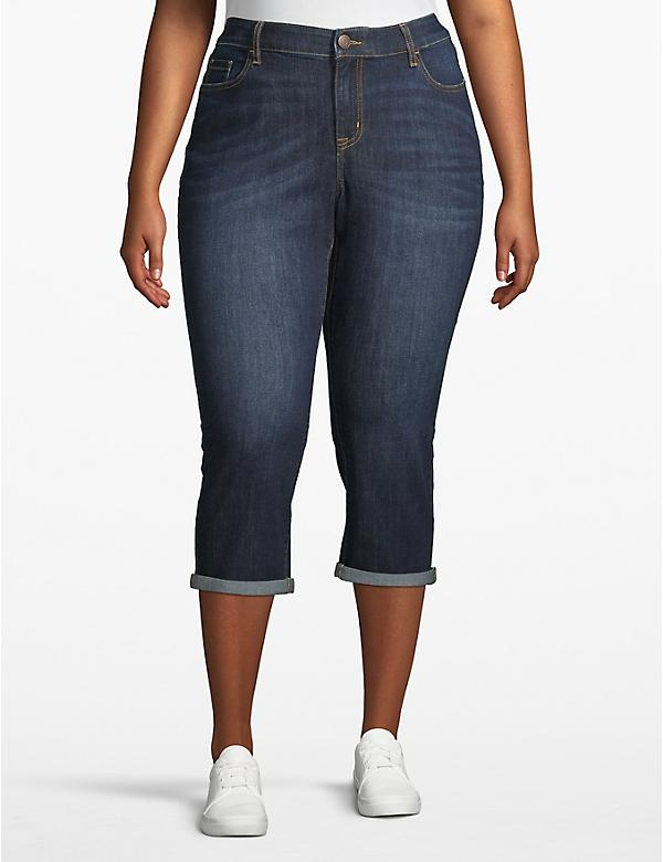 Venezia Denim Skinny Crop - Cuffed Hem