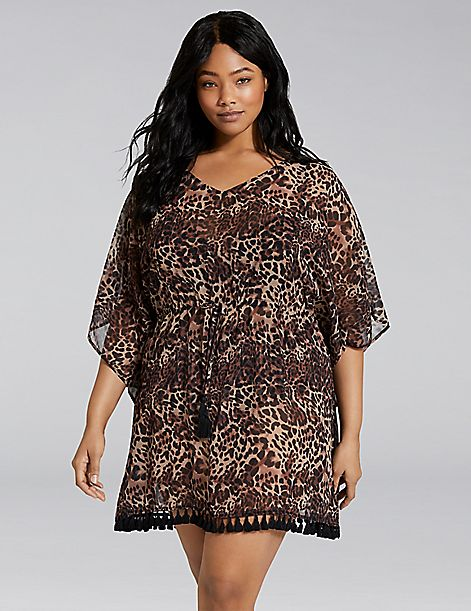Animal Print Cover-Up Dress