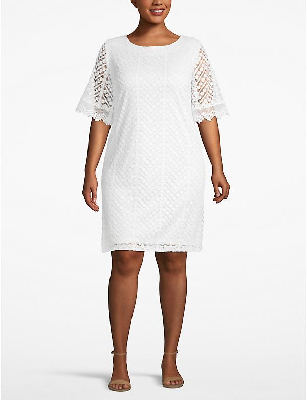 Lace Boatneck Dress