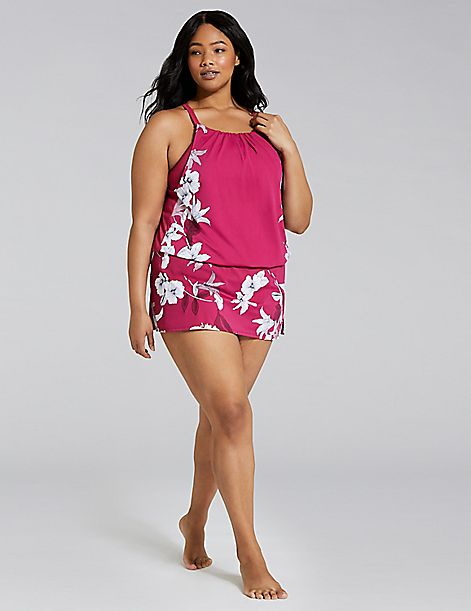 Blouson No-Wire Swim Tankini Top