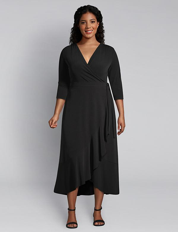 Faux-Wrap Dress