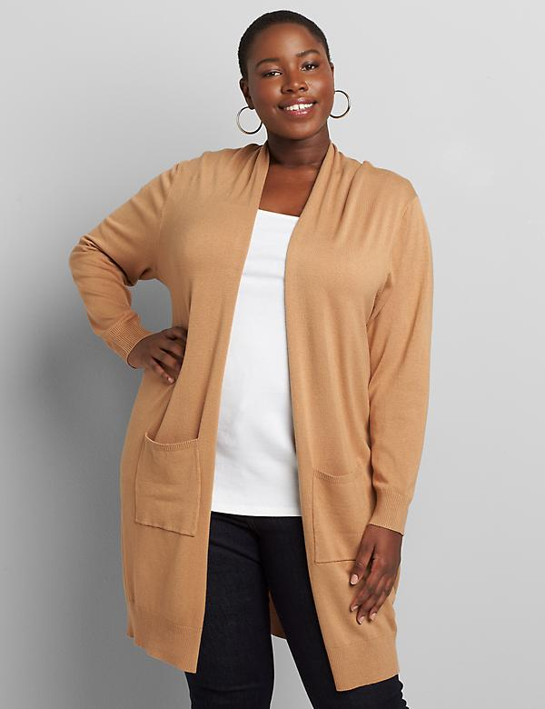 Long-Sleeve Open-Front Overpiece