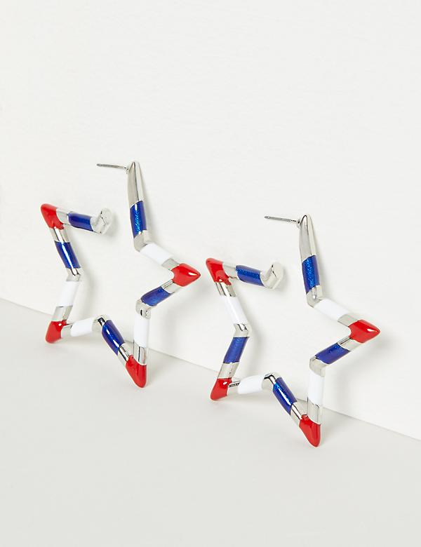 American Star Hoop Earrings