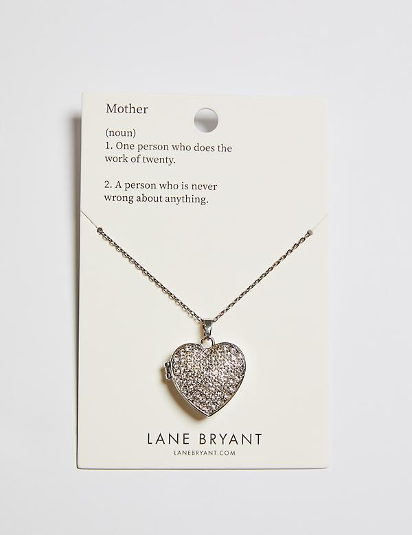 Heart Locket Necklace (With Card)