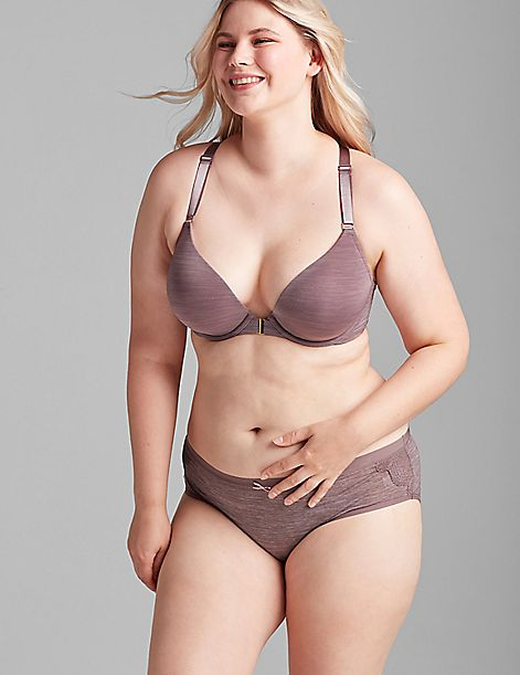 Front-Close Smooth Boost Plunge Bra