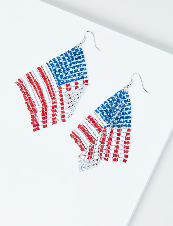 Sparkling Americana Drop Earrings