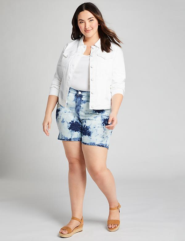 Signature Fit Girlfriend Denim Short - Tie-Dye