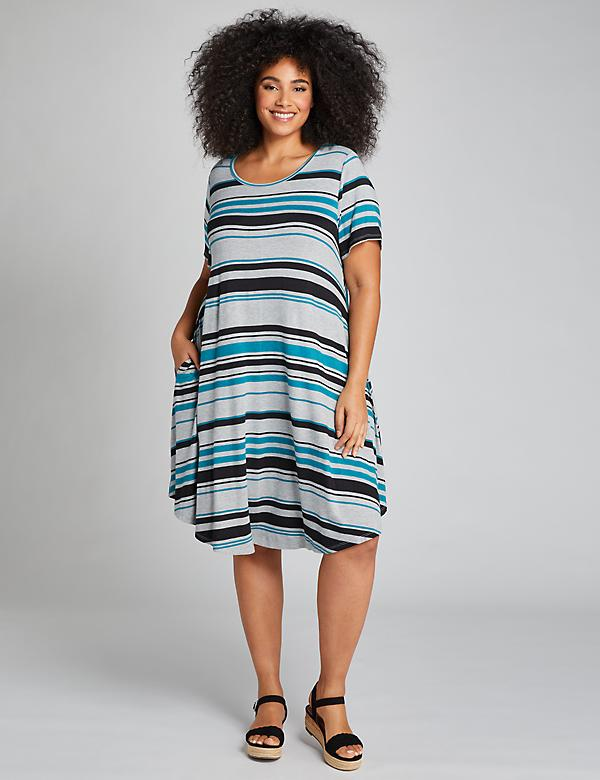 Striped Swing Dress