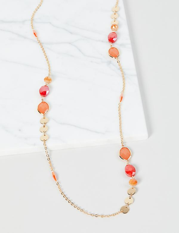 Faceted-Bead Station Necklace