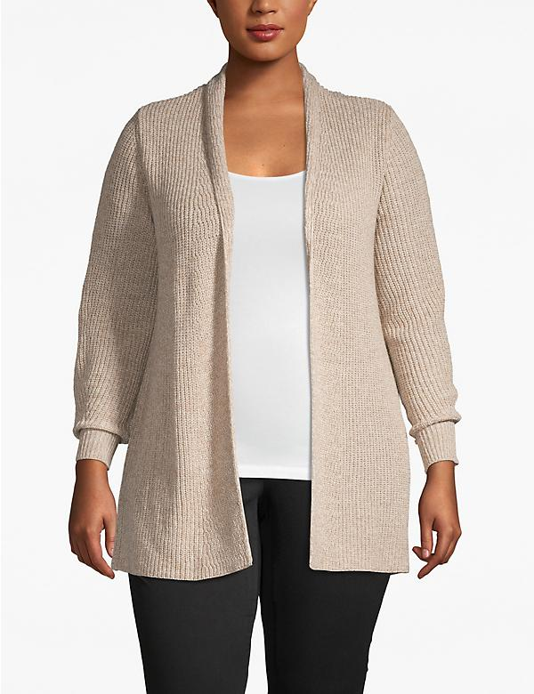 Lane Essentials Marled Ribbed Cardigan