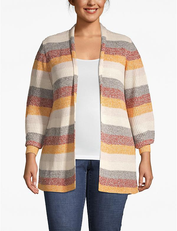 Marled Ribbed Cardigan
