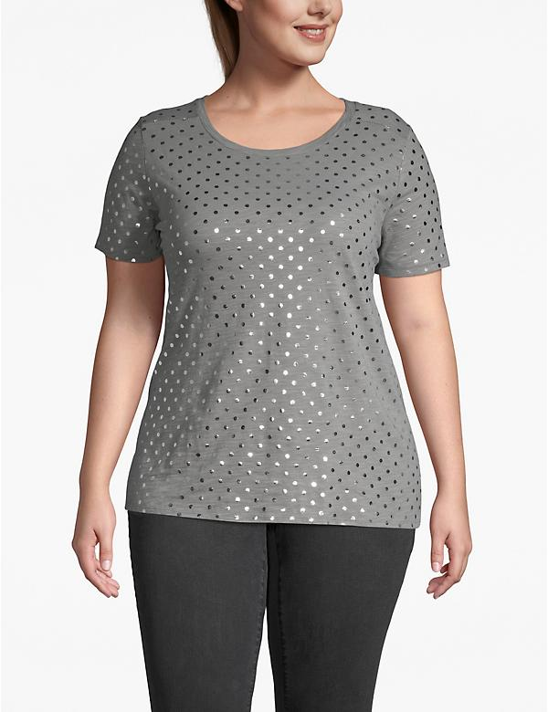 Foil Dot Scoop Neck Tee