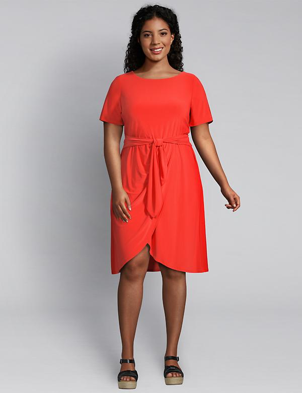 Tie-Waist Fit & Flare Dress