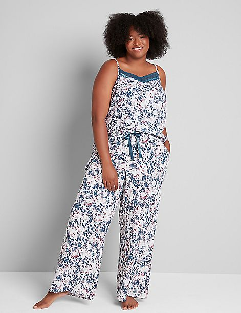 Satin Wide-Leg Sleep Pant
