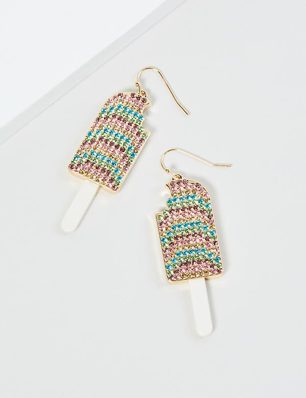 Pave Popsicle Drop Earrings