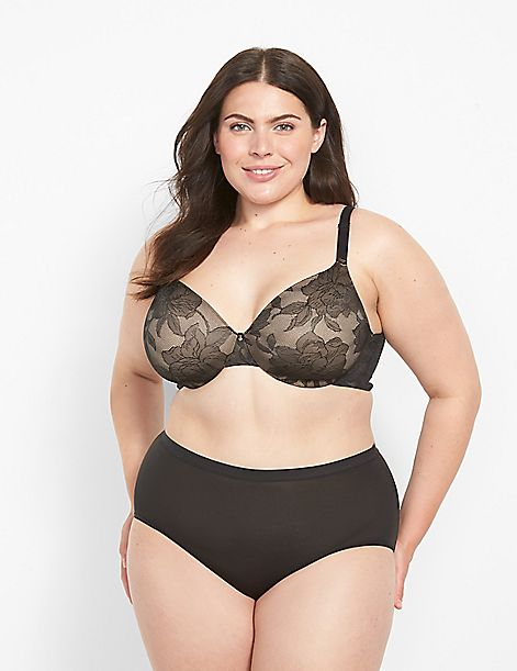 Lace Invisible Backsmoother Lightly Lined Full Coverage Bra