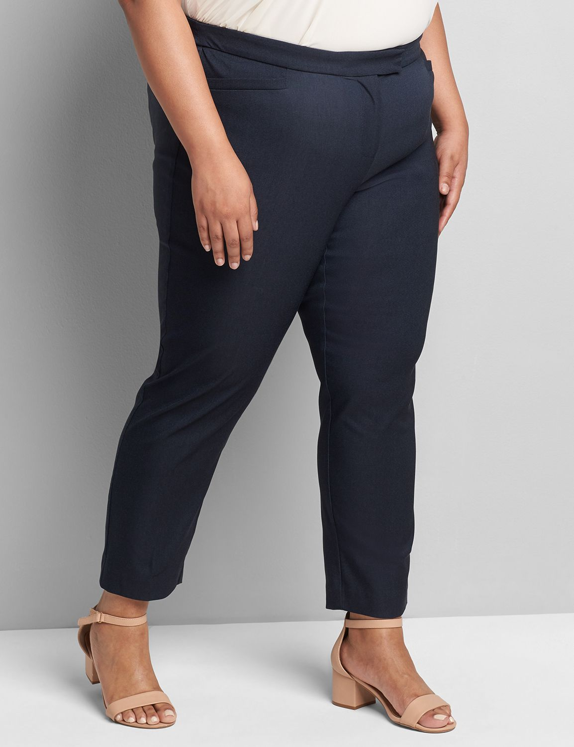 denim,-Lane Bryant Women's Madison Ankle Pant 18 Faux Denim