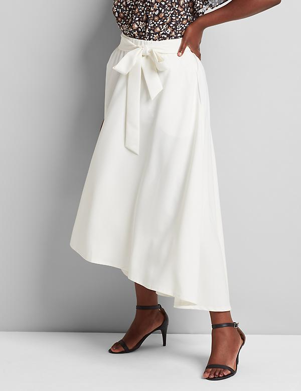 Lena High-Low Midi Skirt