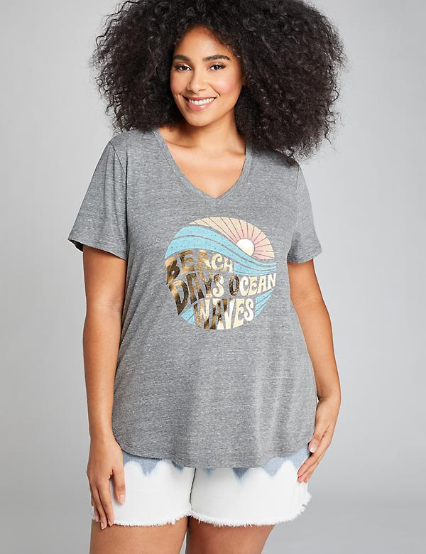 Beach Days Ocean Waves Graphic Tee