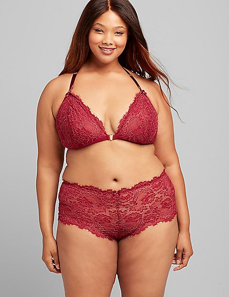 Lace Unlined Front-Close No-Wire Bra