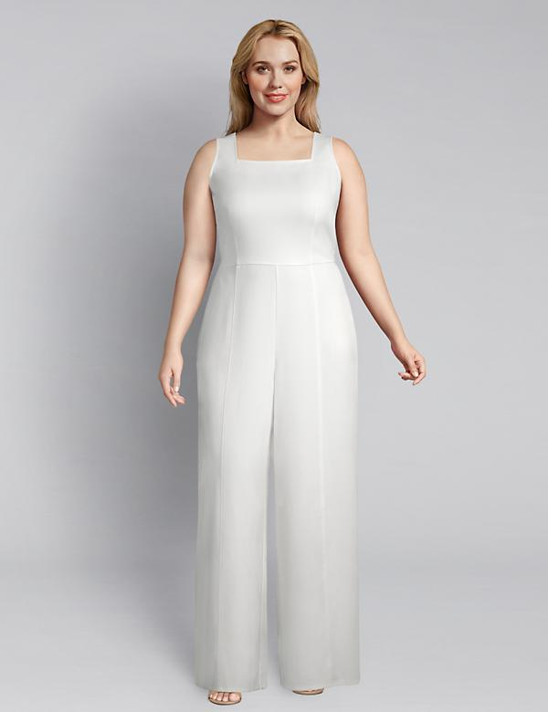 Lena Square-Neck Jumpsuit