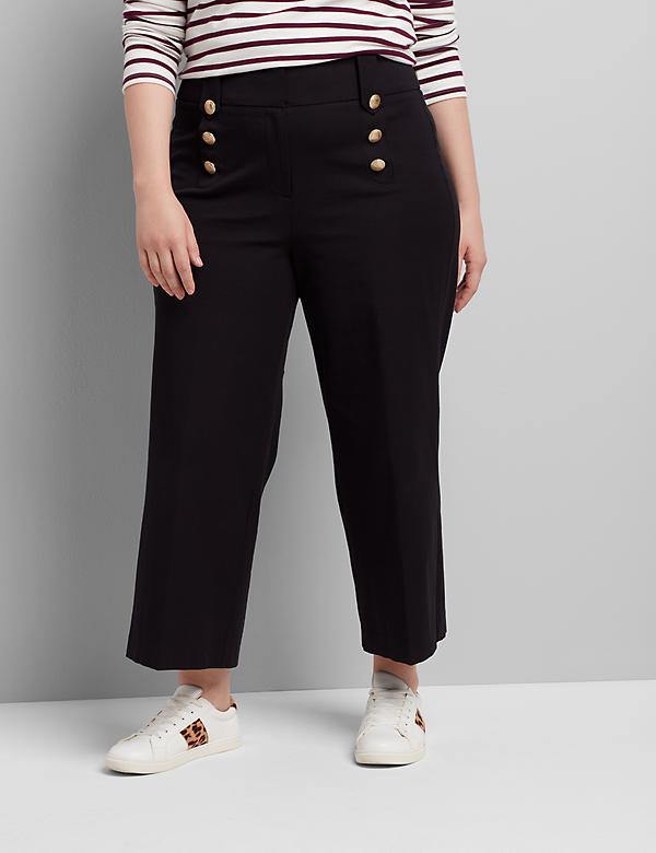 High-Rise Sailor Ankle Pant
