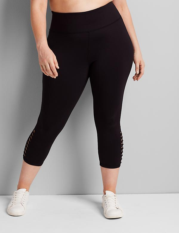 LIVI Capri Power Legging With Wicking - Strappy Hem