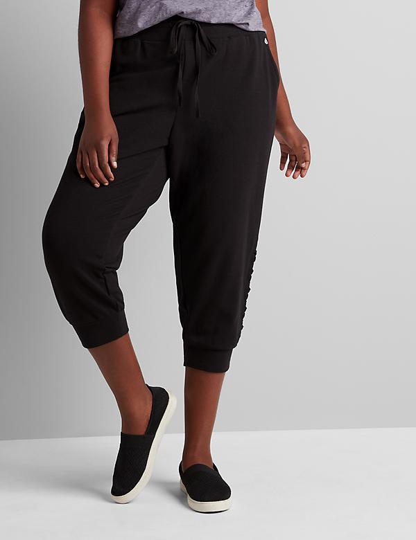 LIVI Capri Metro Jogger - French Terry With Lace-Up Hem