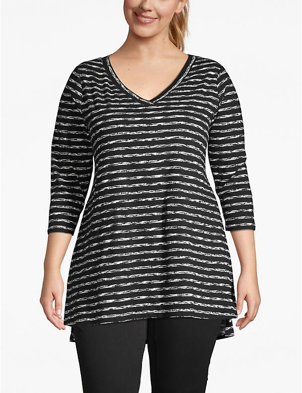 3/4-Sleeve High-Low Tunic
