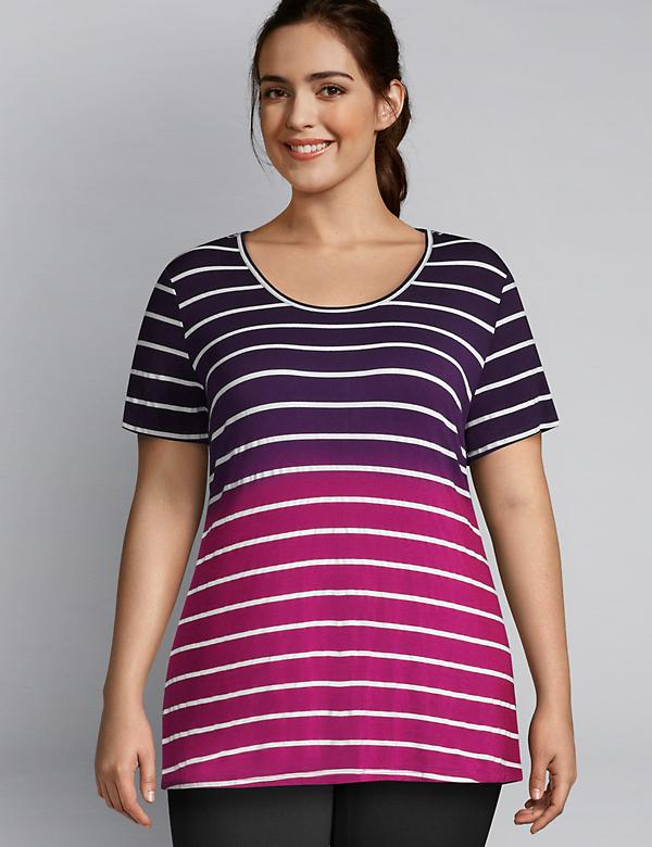 LIVI Striped Ombre Tee