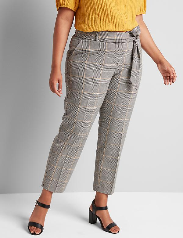 Tailored Stretch Ankle Pant With Belt