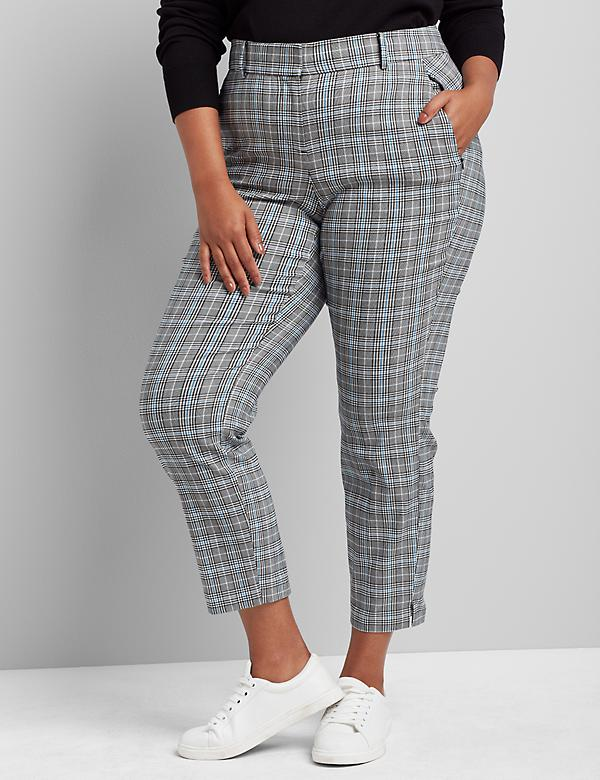 Signature Fit Ankle Allie Pant - Plaid
