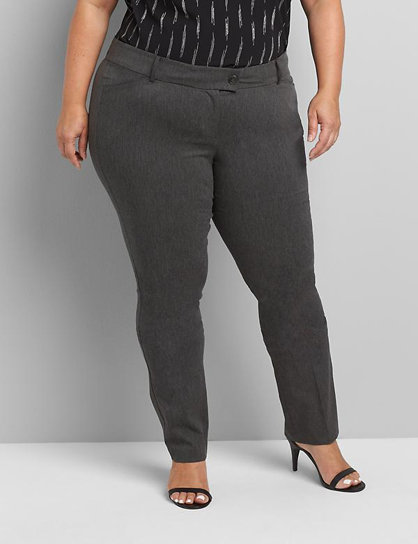 Straight Fit Low-Rise Straight Allie Pant