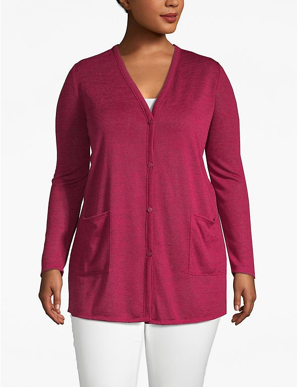 Lane Essentials V-Neck Tunic Cardigan